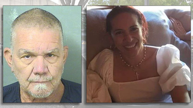 Boynton Beach Police arrested Roberto Colon, 66, on a charge of premeditated first-degree murder for the killing of Mary Stella Gomez Mulett, 45.