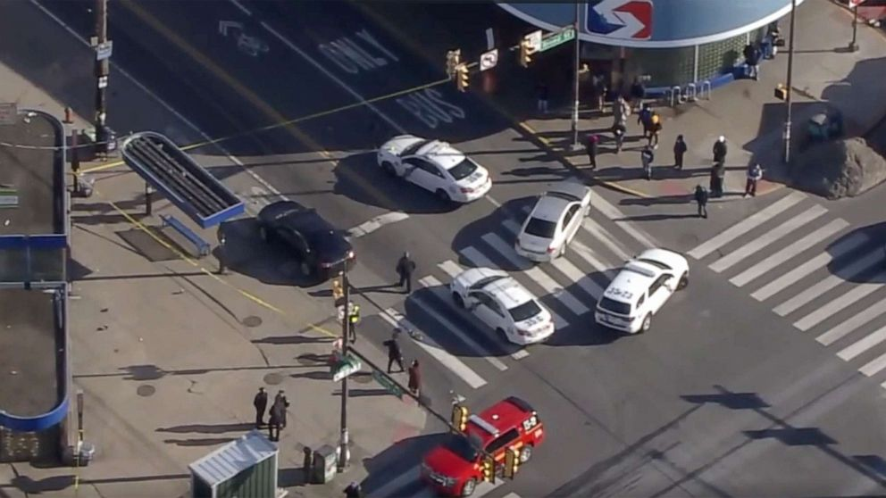 Helicopter footage shows the scene where multiple people were shot in the Olney section of Philadelphia, Feb. 17, 2021