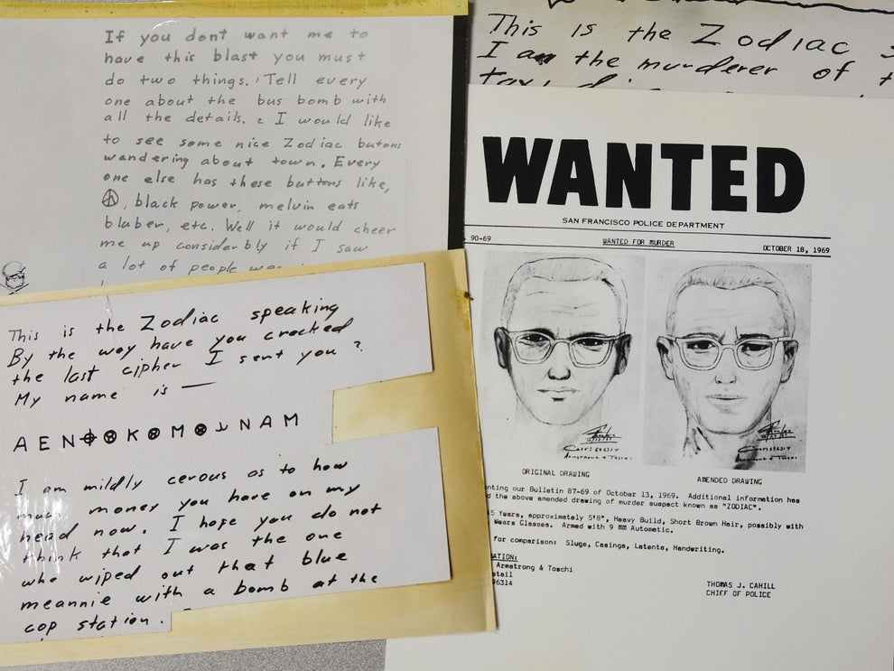 The purported Zodiac Killer sent letters to the San Francisco Chronicle in the late Sixties  (AP)